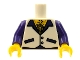 Part No: 973pb0715c01  Name: Torso Vest with Open Shirt, Medallion and Hairy Chest Pattern / Dark Purple Arms / Yellow Hands
