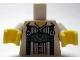 Part No: 973pb1237c01  Name: Torso Lederhosen over Pinstripe Shirt Pattern / White Arms / Yellow Hands