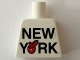 Part No: 973pb2326  Name: Torso 'NEW YORK' Big Red Apple Pattern