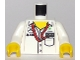 Part No: 973pb2642c01  Name: Torso Speed Champions with Boss, Mercedes-Benz, Petronas and UBS Logos and Red Ribbon and Pocket, Front and Back Pattern / White Arms / Yellow Hands