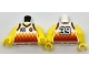 Part No: 973pb2736c01  Name: Torso Sports Shirt with Number 39, Orange Basketball and Orange and Red Diamonds Pattern / Yellow Arms / Yellow Hands