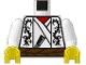 Part No: 973pn0c01  Name: Torso Castle Ninja Samurai Dragon Robe Pattern / White Arms / Yellow Hands