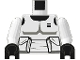 Part No: 973psec01  Name: Torso SW Armor Scout Trooper Pattern (Dark Gray Accents) / White Arms / Black Hands