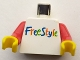 Part No: 973px33c01  Name: Torso FreeStyle Pattern / Red Arms / Yellow Hands