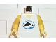 Part No: 973px38c01  Name: Torso Divers Dolphin Logo Pattern / Yellow Arms / Yellow Hands