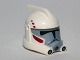 Part No: 98099pb01  Name: Minifig, Headgear Helmet SW ARC Clone Trooper with Dark Red and Dark Bluish Gray Pattern