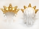 Part No: 99245pb01  Name: Minifigure, Hair Ocean King with Gold Spiked Tiara Pattern