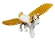 Part No: Pegasus01  Name: Pegasus, Complete Assembly with Pearl Gold Wings and Gold Mane and Tail Pattern (Golden Glow)