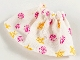 Part No: belvskirt15  Name: Belville, Clothes Skirt Short, Clam and Starfish Pattern on White, Adult