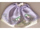 Part No: belvskirt20  Name: Belville, Clothes Skirt Long, Rose Pattern Border and Sheer Purple Layer with 2 Pink Roses