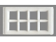 Part No: bwindow03  Name: Window 8 Pane for Slotted Bricks