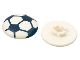 Part No: clikits086pb02  Name: Clikits Icon, Round 2 x 2 Large with Pin, Soccer Ball Pattern