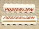 Lot ID: 8833141  Part No: crssprt02pb19  Name: Brick 1 x 6 without Bottom Tubes with Cross Side Supports with Red 'POSTERIJEN' Slanted Pattern