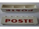 Part No: crssprt02pb63  Name: Brick 1 x 6 without Bottom Tubes with Cross Side Supports with Red 'POSTE' Pattern