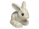 Part No: dupbunnyc01pb01  Name: Duplo Bunny Rabbit with Black Eyes and Pink Nose Pattern looking straight