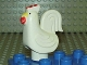 Part No: duprooster2pb01  Name: Duplo Chicken, Rooster Tail, Lobe Comb, without Base
