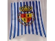 Part No: sailbb02  Name: Cloth Sail Main with Blue Stripes and Crown Shield Pattern