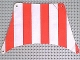 Part No: sailbb04  Name: Cloth Sail 27 x 17 Top with Red Thick Stripes Pattern