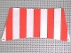 Part No: sailbb05  Name: Cloth Sail 30 x 15 Bottom with Red Thick Stripes Pattern