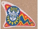 Part No: sailbb10  Name: Cloth Sail Triangular Curved with Islander Pattern