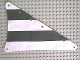 Part No: sailbb15  Name: Cloth Sail Triangular 15 x 22 with Black Thick Stripes Pattern