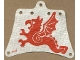 Part No: sailbb19  Name: Cloth Sail 12 x 10 with Red Flying Dragon Pattern