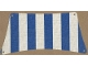 Part No: sailbb21  Name: Cloth Sail 30 x 15 Bottom with Blue Thick Stripes Pattern