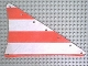 Part No: sailbb23  Name: Cloth Sail Triangular 14 x 22 with Red Thick Stripes Pattern