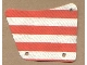 Part No: sailbb24  Name: Cloth Sail 9 x 11, 3 Holes with Red Stripes Pattern