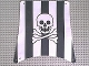 Part No: sailbb31  Name: Cloth Sail Square with Black Stripes, Skull and Crossbones Pattern