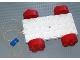 Part No: x1447c01  Name: Jumbo Brick Vehicle Base 4 x 8 with Red Wheels