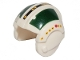 Part No: x164pb12  Name: Minifigure, Headgear Helmet SW Rebel Pilot with Dark Green Rectangles Pattern - Wedge Antilles (75098)