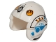 Part No: x164pb20  Name: Minifig, Headgear Helmet SW Rebel Pilot with Yellow Rebel Logo and Blue Markings Pattern (Sandspeeder Gunner)