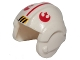 Part No: x164px2  Name: Minifigure, Headgear Helmet SW Rebel Pilot with Red Rebel Logo and Stripe Pattern