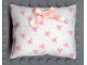 Part No: x22pb02  Name: Scala Cloth Pillow Large with Pink Bow, Green Dots and Pink Bows Pattern