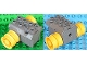 Part No: 40348c01  Name: Duplo, Toolo Pullback Motor 3 x 4 Complete Assembly with Yellow Wheels