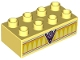Part No: 3011pb046  Name: Duplo, Brick 2 x 4 with 'V8' and Bright Light Orange Arches Pattern