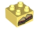 Part No: 3437pb070  Name: Duplo, Brick 2 x 2 with 2 Sandwich Halves Pattern
