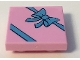 Part No: 11203pb013  Name: Tile, Modified 2 x 2 Inverted with Gift Wrap Medium Blue Bow Pattern