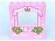Part No: 15627pb003  Name: Panel 1 x 6 x 6 with Window with Light Pink Frame, Bricks, Crown, Butterfly, Roses and Leaves Pattern