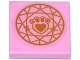 Part No: 3068bpb0986  Name: Tile 2 x 2 with Gold Paw Print with Heart and Circular Geometric Pattern (Sticker) - Set 41142