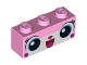 Part No: 3622pb049  Name: Brick 1 x 3 with Cat Face Pattern (Unikitty)