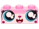 Part No: 3622pb058  Name: Brick 1 x 3 with Cat Face Wide Eyed Smiling (Cutesykitty) Pattern