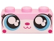 Part No: 3622pb064  Name: Brick 1 x 3 with Cat Face Wide Eyes Smiling Closed Mouth (Unikitty) Pattern