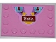 Part No: 6180pb061  Name: Tile, Modified 4 x 6 with Studs on Edges with Medium Azure Handles, Horseshoe and 'Robin' Pattern (Sticker) - Set 3186