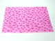 Part No: blankie03pb01  Name: Duplo Cloth Blanket 5 x 6 with Dark Pink Stars Pattern