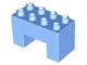 Part No: 6394  Name: Duplo, Brick 2 x 4 x 2 with 2 x 2 Cutout on Bottom