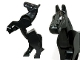 Part No: 10352c01pb02  Name: Horse, Moveable Legs with Gray Bridle Pattern