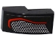 Part No: 11477pb028L  Name: Slope, Curved 2 x 1 No Studs with Taillight with Hexagonal Mesh Pattern Model Left Side (Sticker) - Set 75909