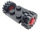 Part No: 122c01assy2  Name: Plate, Modified 2 x 2 with Wheels Red with Black Tires 15mm D. x 6mm Offset Tread Small (122c01 / 3641)